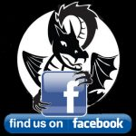 A dragon holding a facebook icon