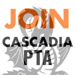 "Dragon logo ""JOIN Cascadia PTA"""